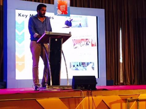Nithin, MD addressing IEDC Crowd trivandrum on Technolodges